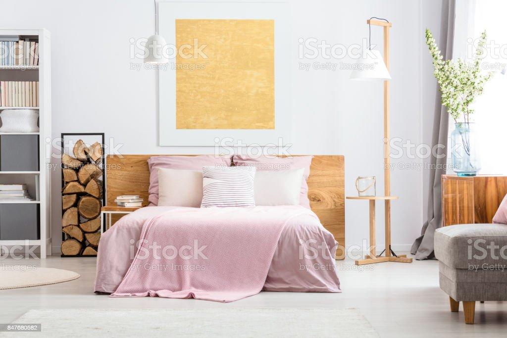 Adorable classic bedroom stock photo
