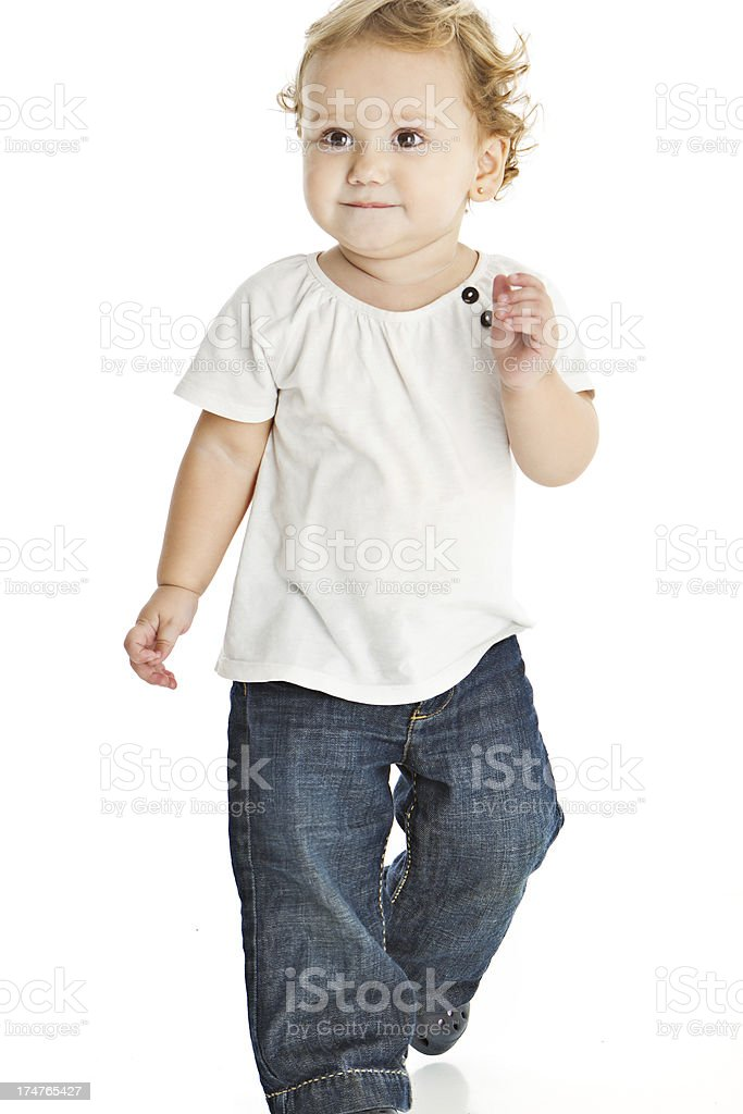 Adorable expressive little girl royalty-free stock photo