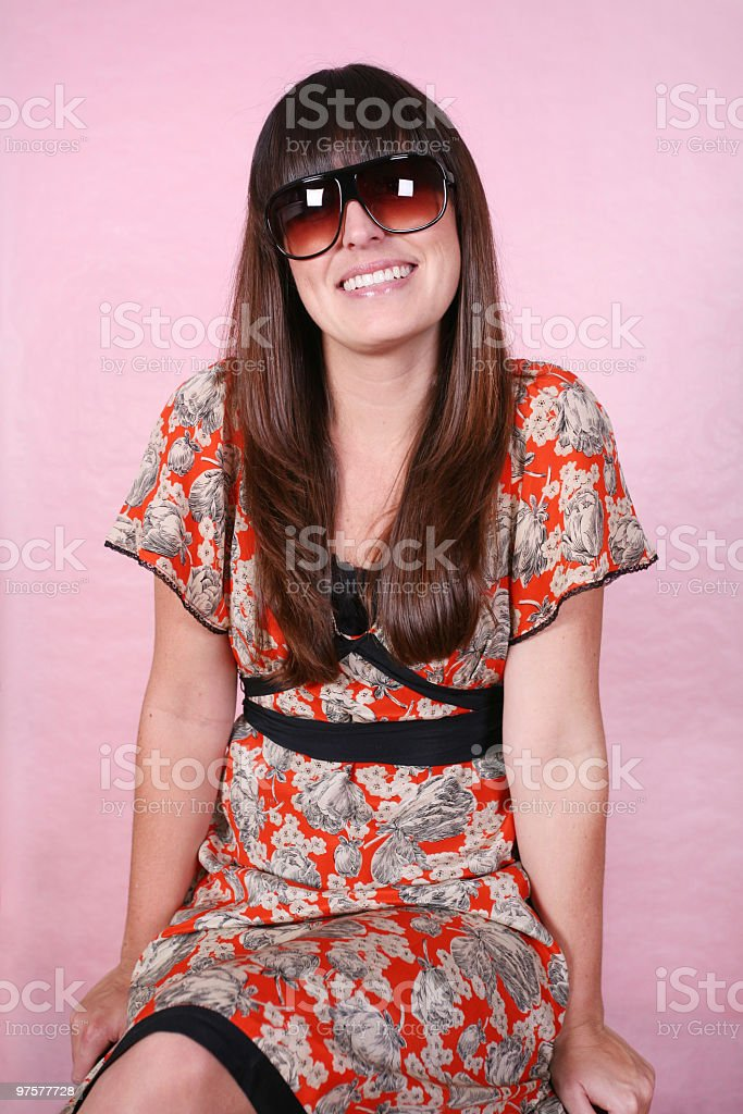 Adorable female :P royalty-free stock photo