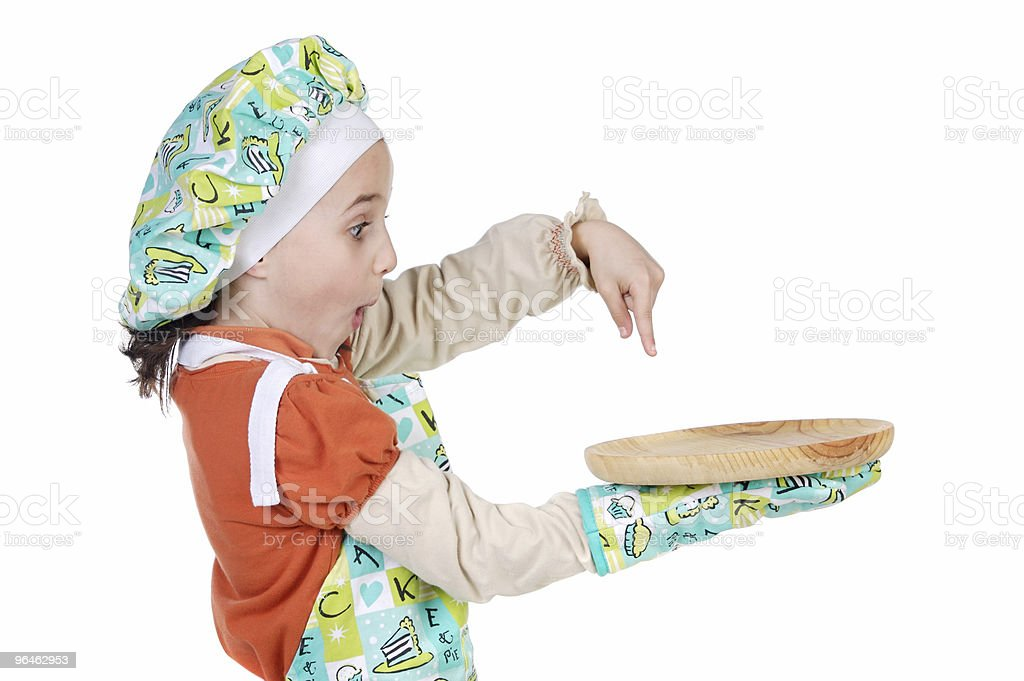 Adorable future cook royalty-free stock photo