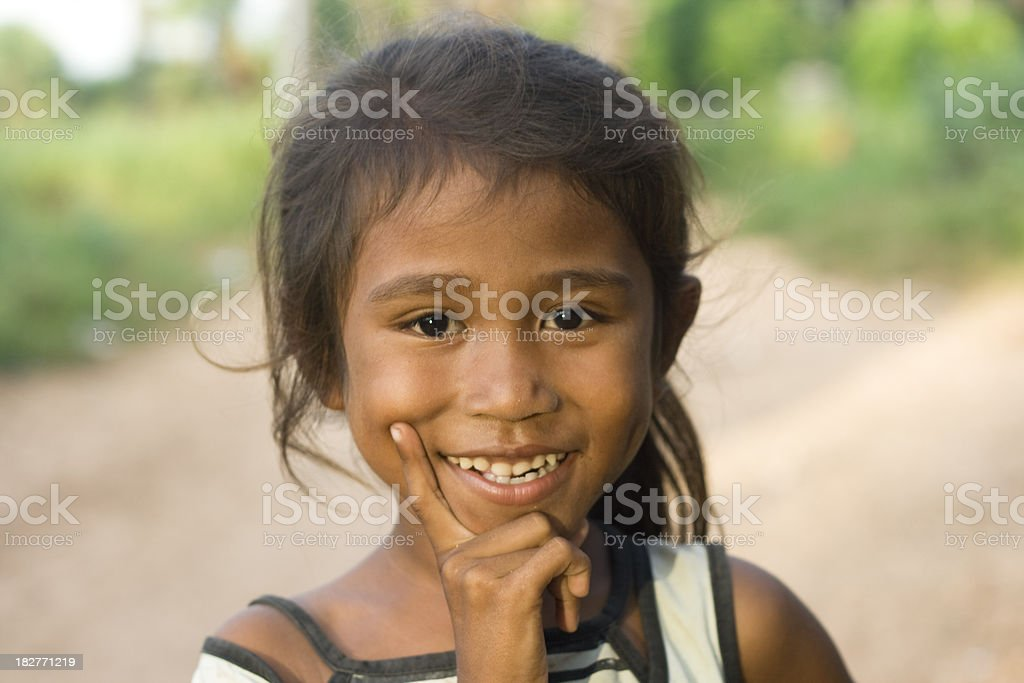 Adorable girl from Timor. stock photo