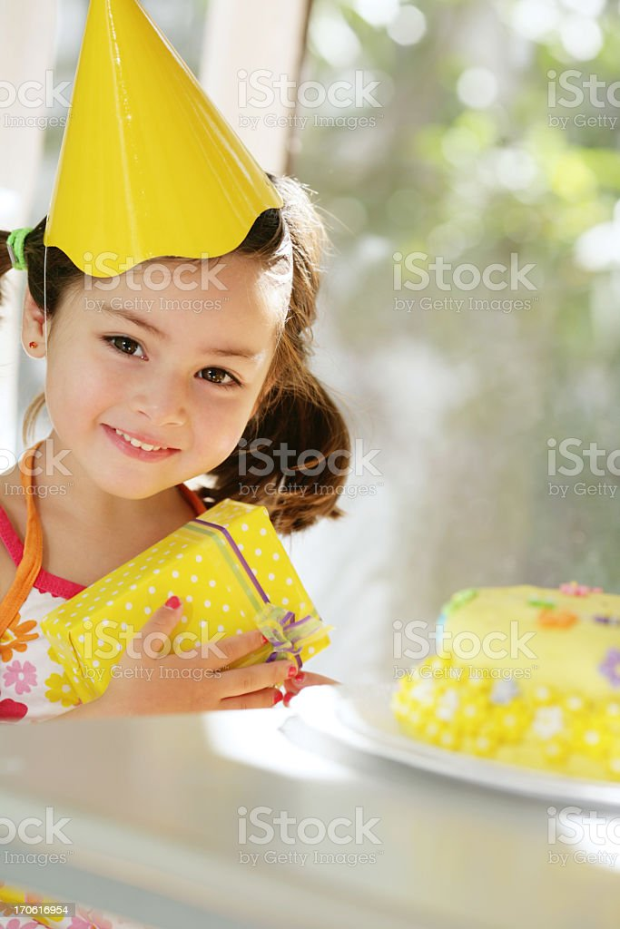 adorable girl's birthday royalty-free stock photo