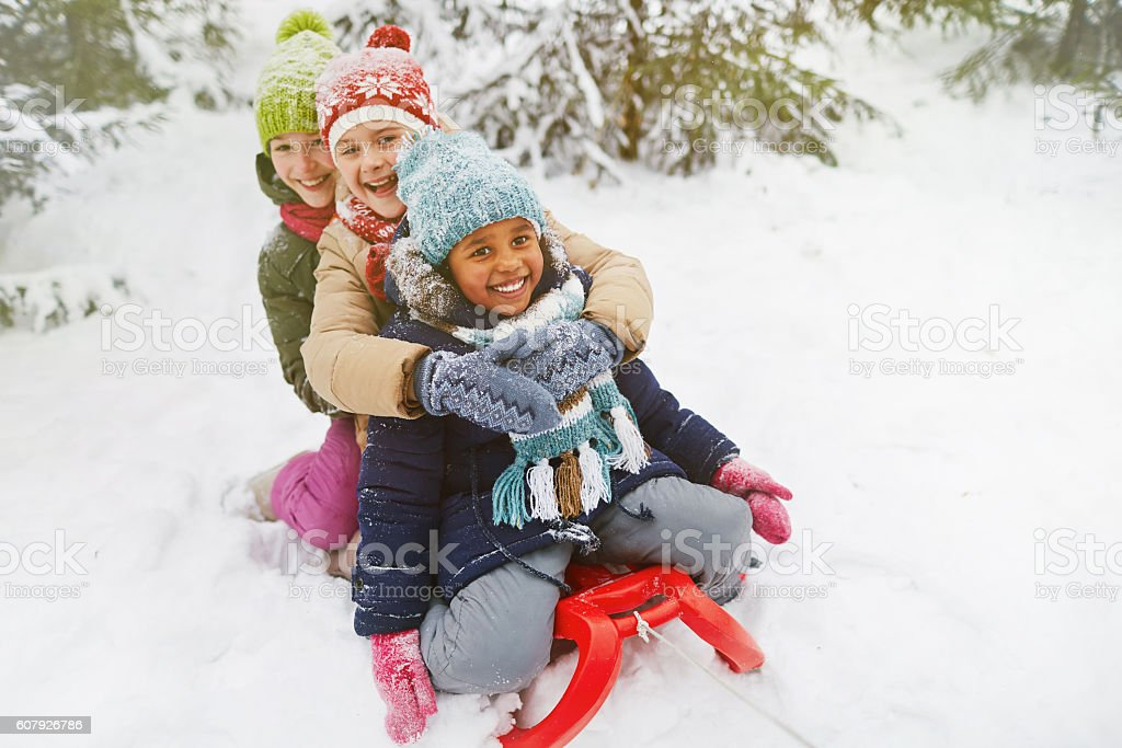Adorable girls stock photo