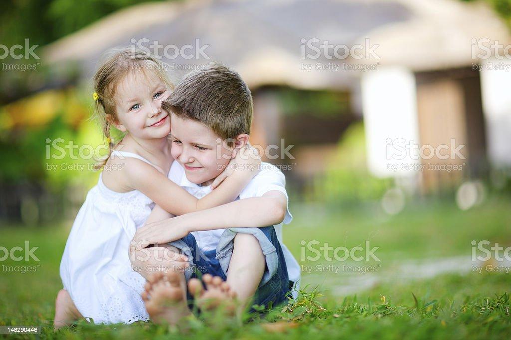 Adorable happy kids royalty-free stock photo