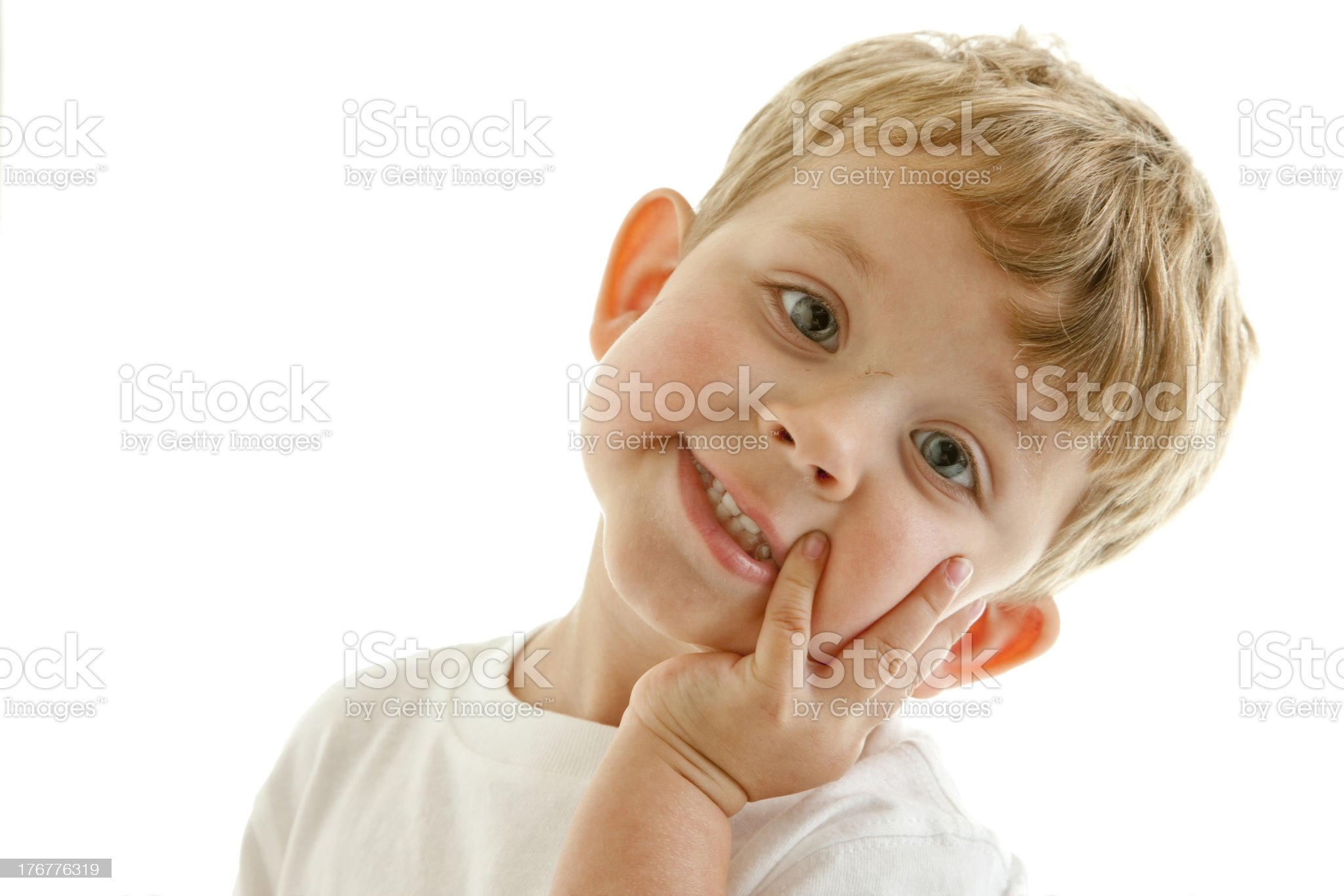Adorable Little Boy with a Sweet Smile royalty-free stock photo