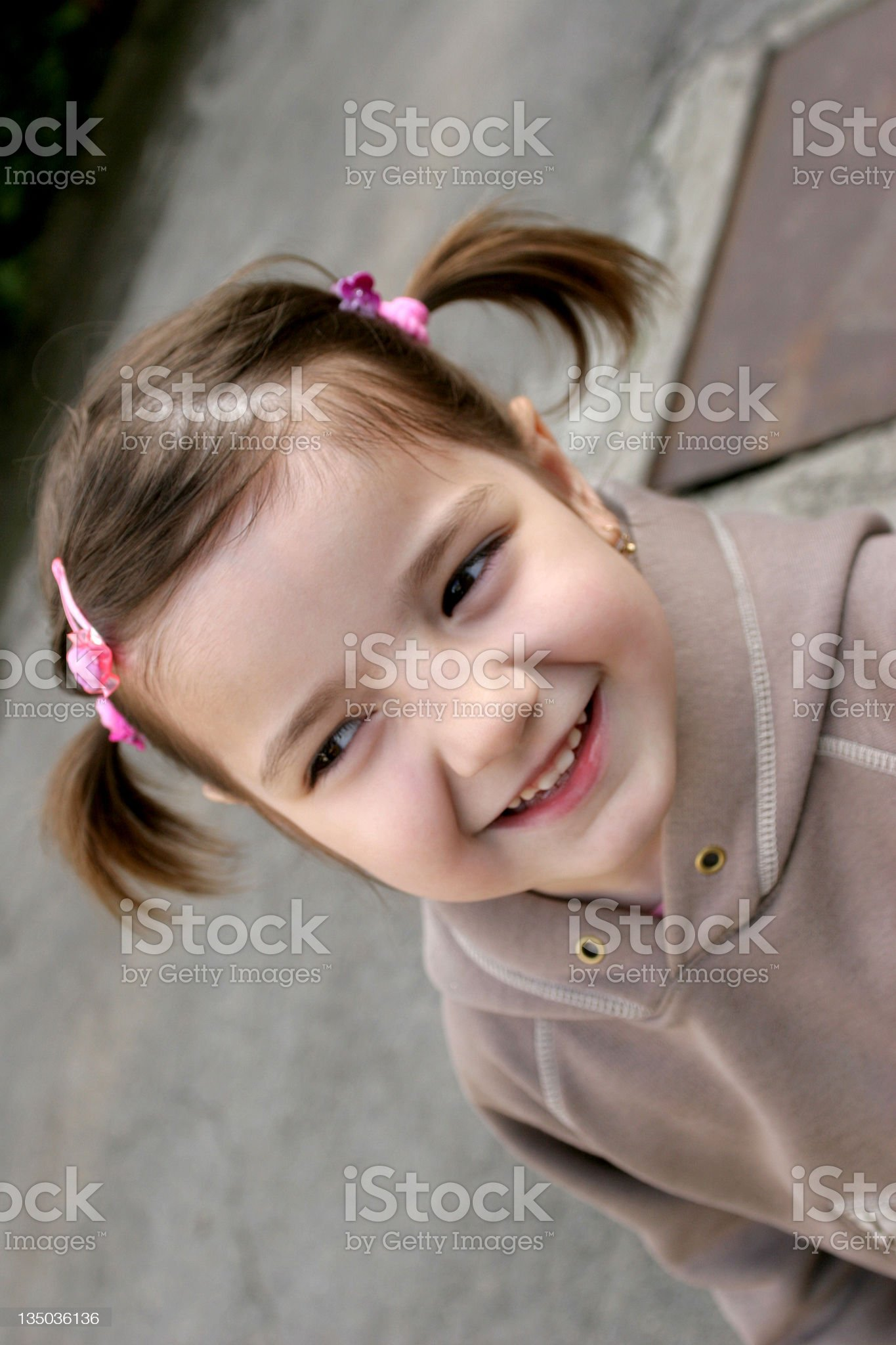adorable little girl smiling royalty-free stock photo