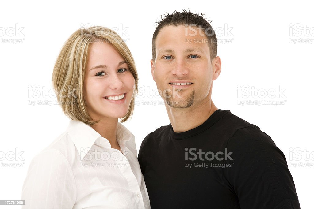 Adorable Married couple royalty-free stock photo