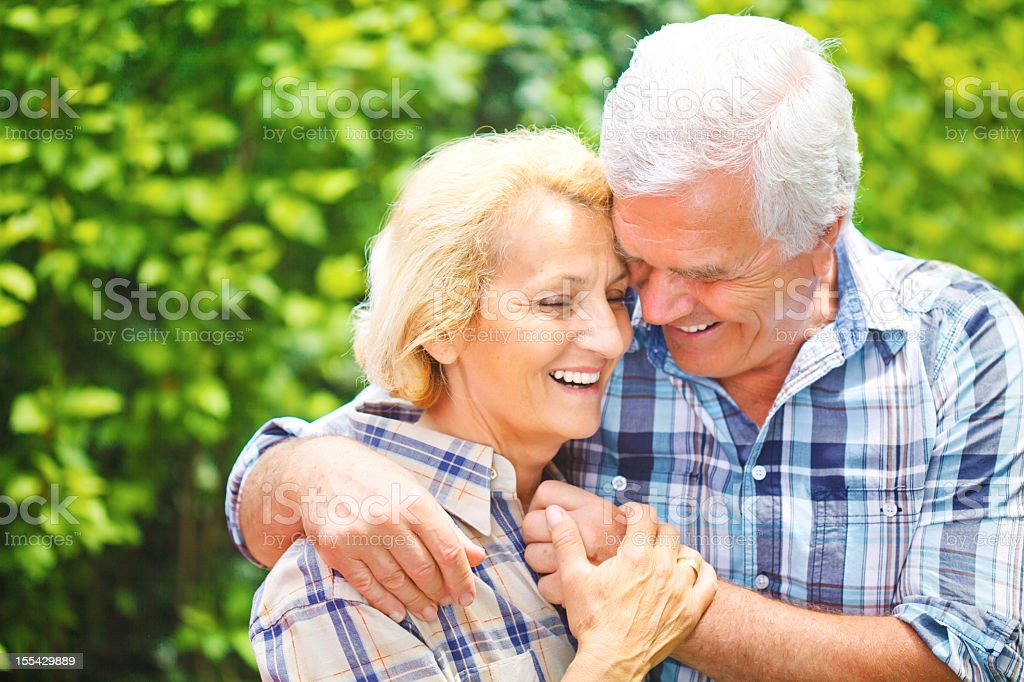 Adorable mature couple royalty-free stock photo