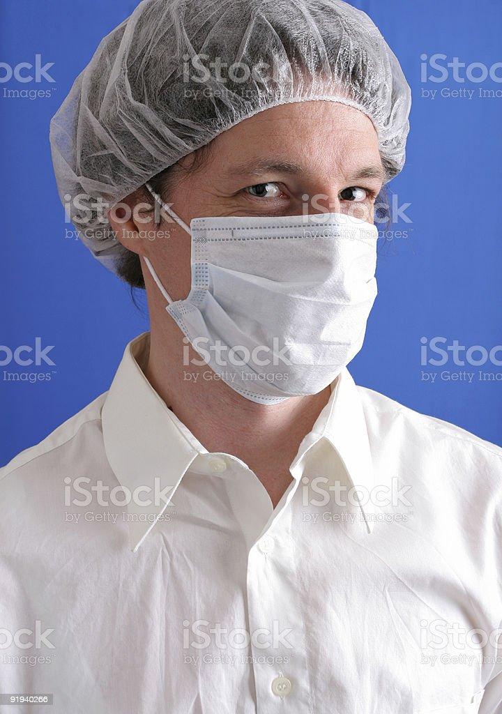 Adorable medical technician stock photo