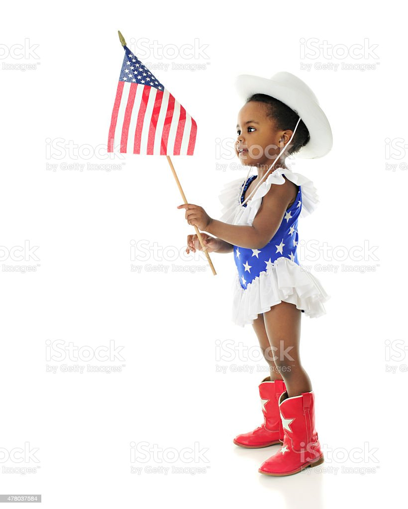 Adorable Patriot stock photo
