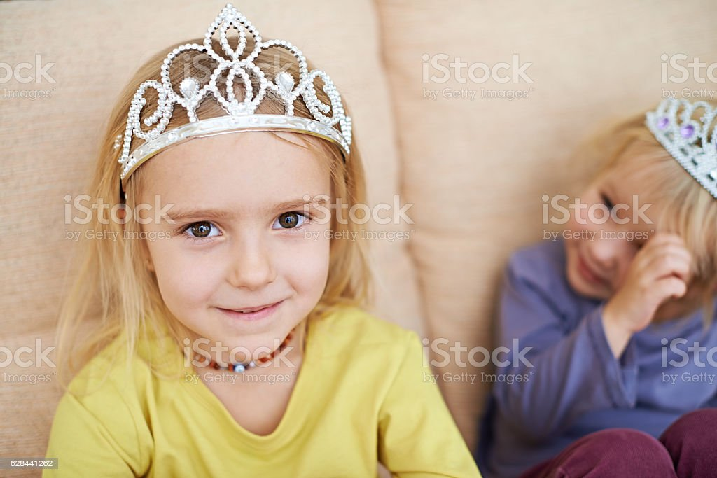 Adorable princess stock photo