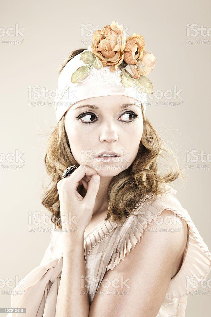 Adorable Retro Beauty royalty-free stock photo