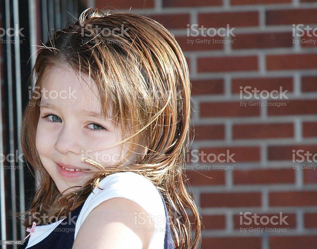 Adorable School Girl stock photo