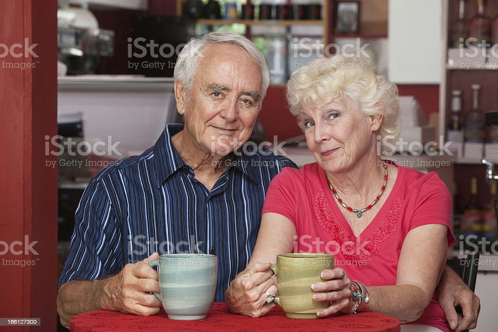 Adorable Senior Couple royalty-free stock photo