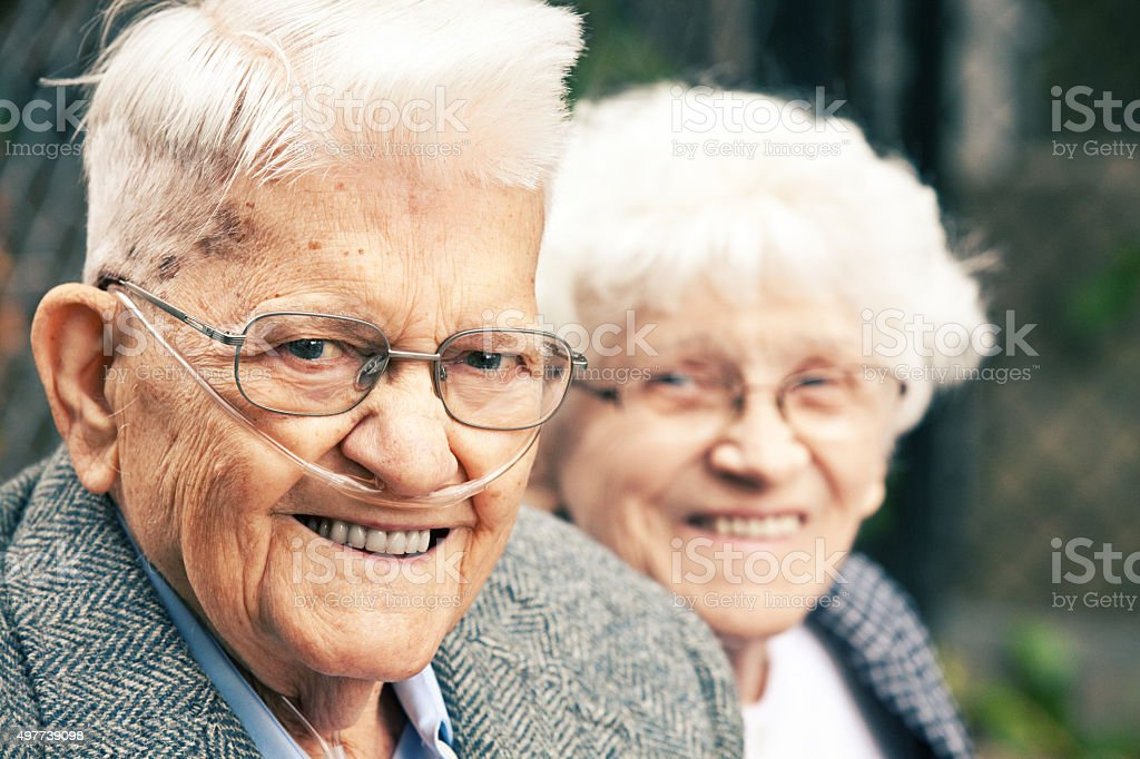 Adorable Senior Couple stock photo