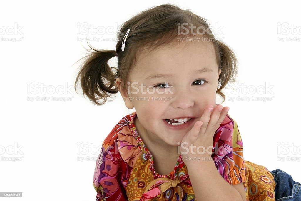 Adorable Two Year Old Girl Laughing royalty-free stock photo