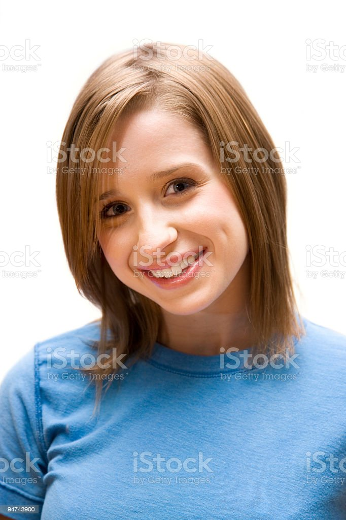 Adorable Young Woman royalty-free stock photo