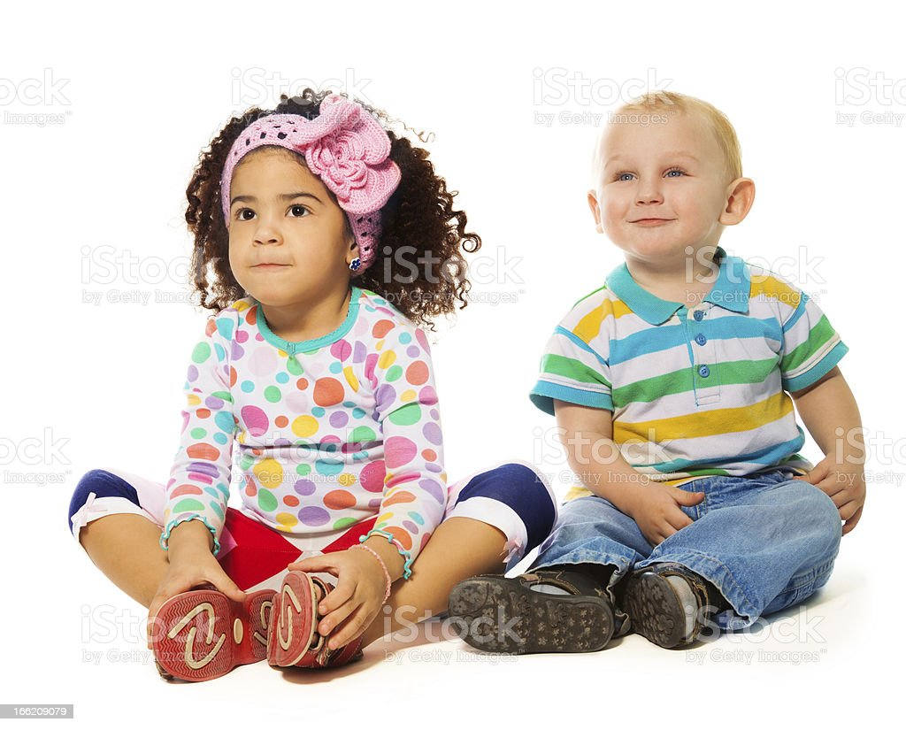 Adoring two years old couple royalty-free stock photo