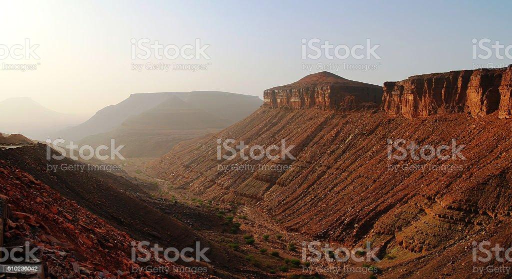 Adrar mountain, Mauritania stock photo