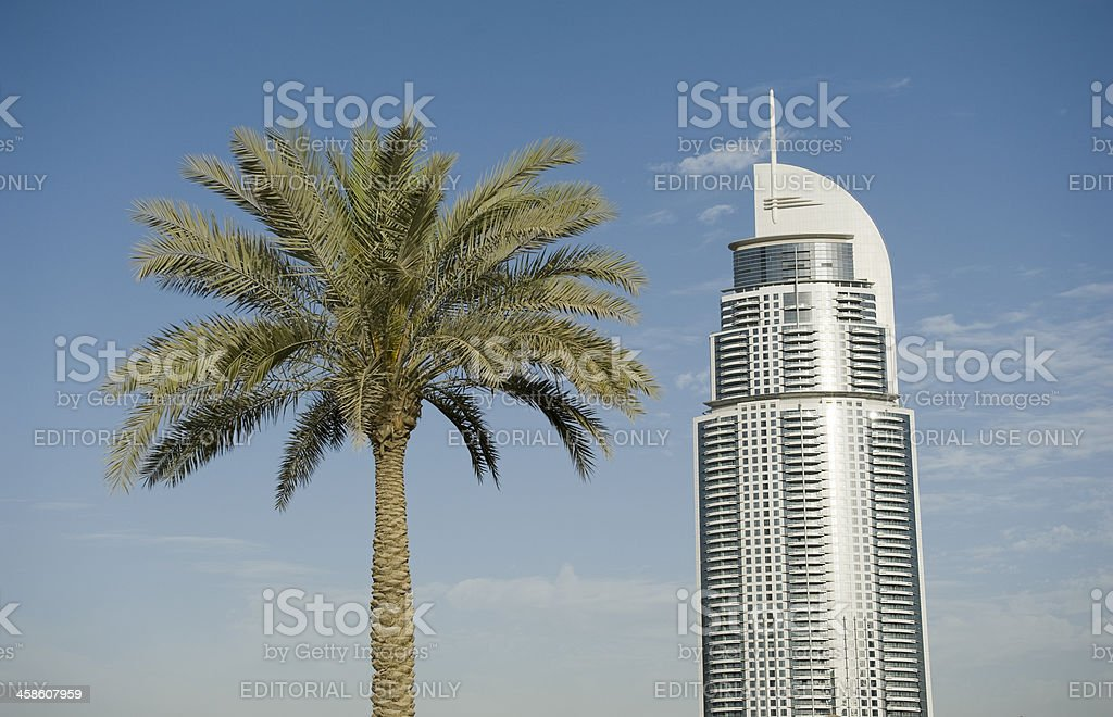 Adress hotel at the Dubai Mall royalty-free stock photo