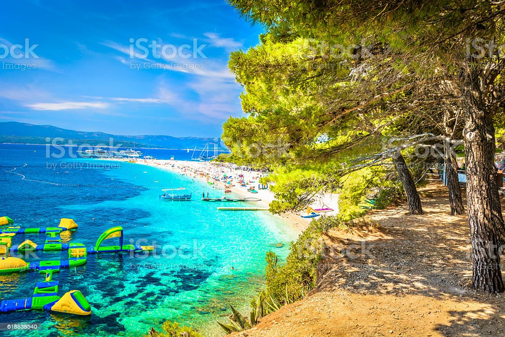 Adriatic coast Croatia. stock photo