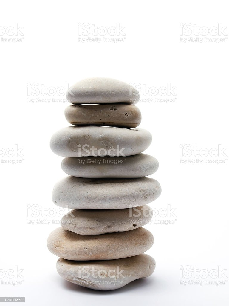 Adriatic pebbles stock photo