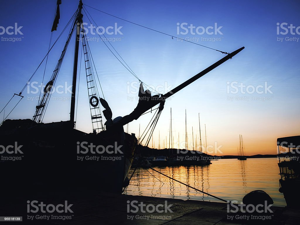 Adriatic port royalty-free stock photo