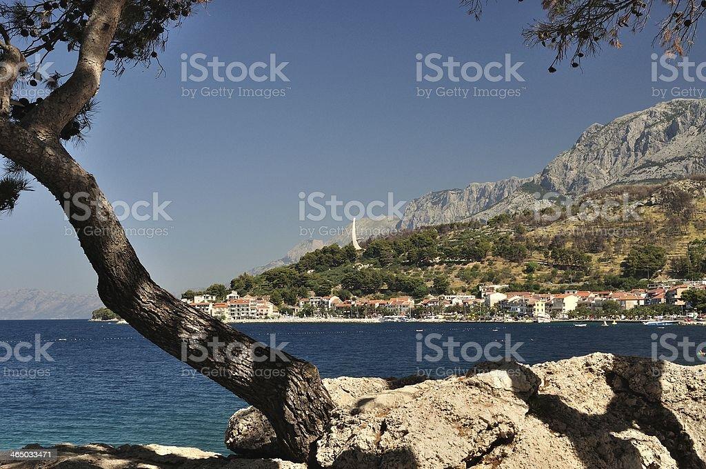 Adriatyckiego w Podgora w Chorwacji zbiór zdjęć royalty-free