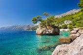Adriatic sea in Brela on Makarska Riviera