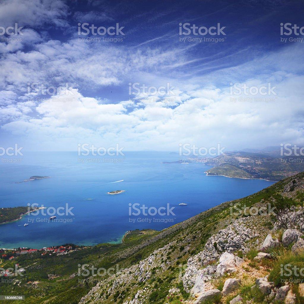Adriatic sea stock photo