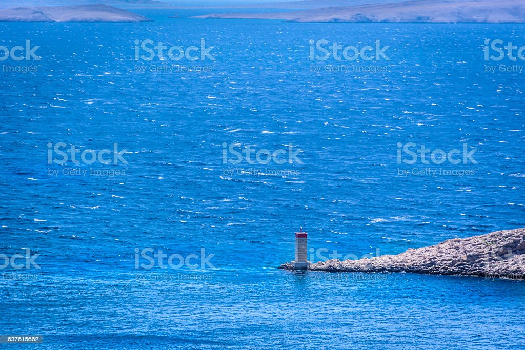 Adriatic Sea scenic view. stock photo