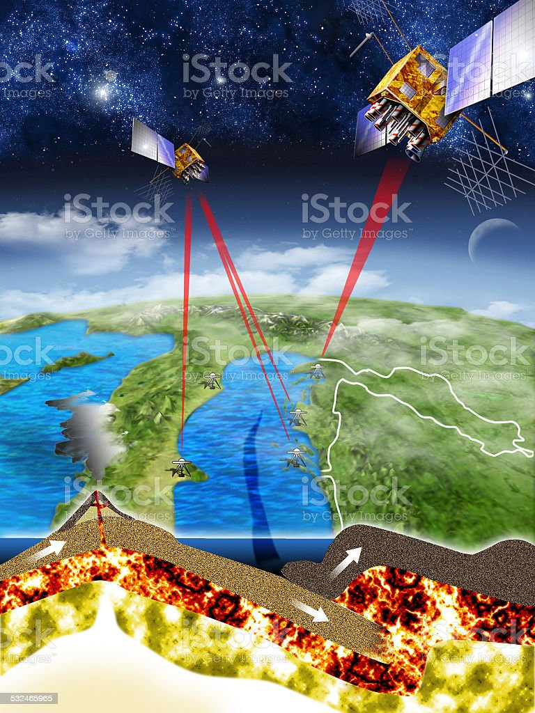 Adriatic sea sea bottom trench stock photo