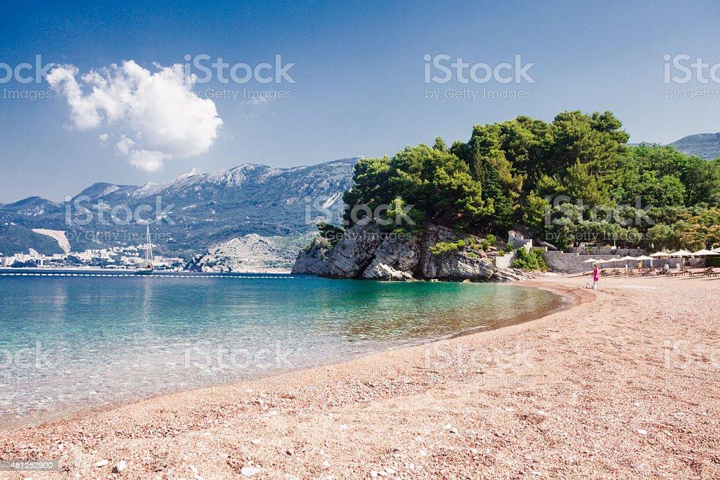 Adriatic seashore stock photo