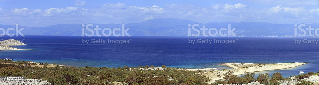 Adriatic summer panorama royalty-free stock photo
