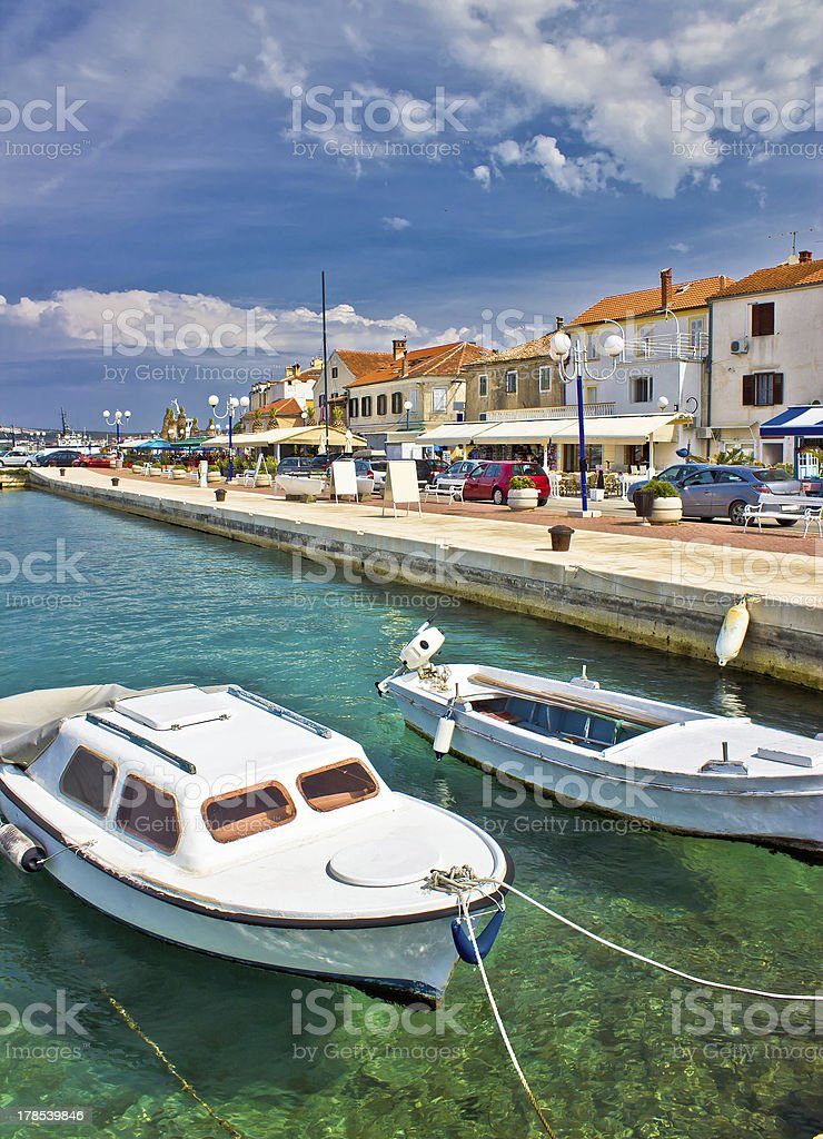 Adriatic town of Biograd na moru waterfront stock photo