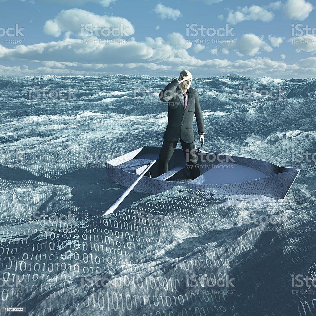 Adrift stock photo
