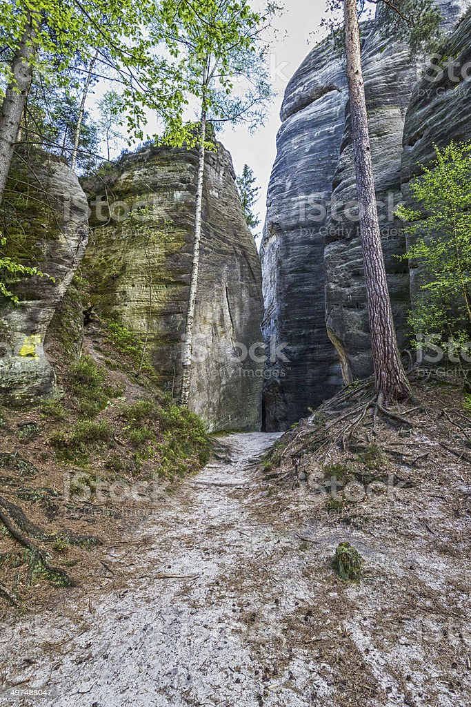 Adrspach - Rock City stock photo