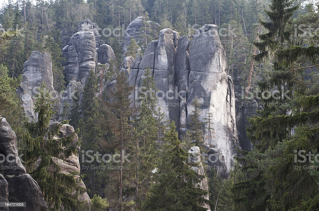 Adrspach rocks royalty-free stock photo