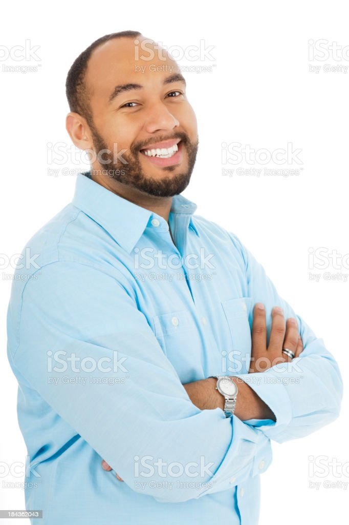 Adult African American Male Smiling royalty-free stock photo
