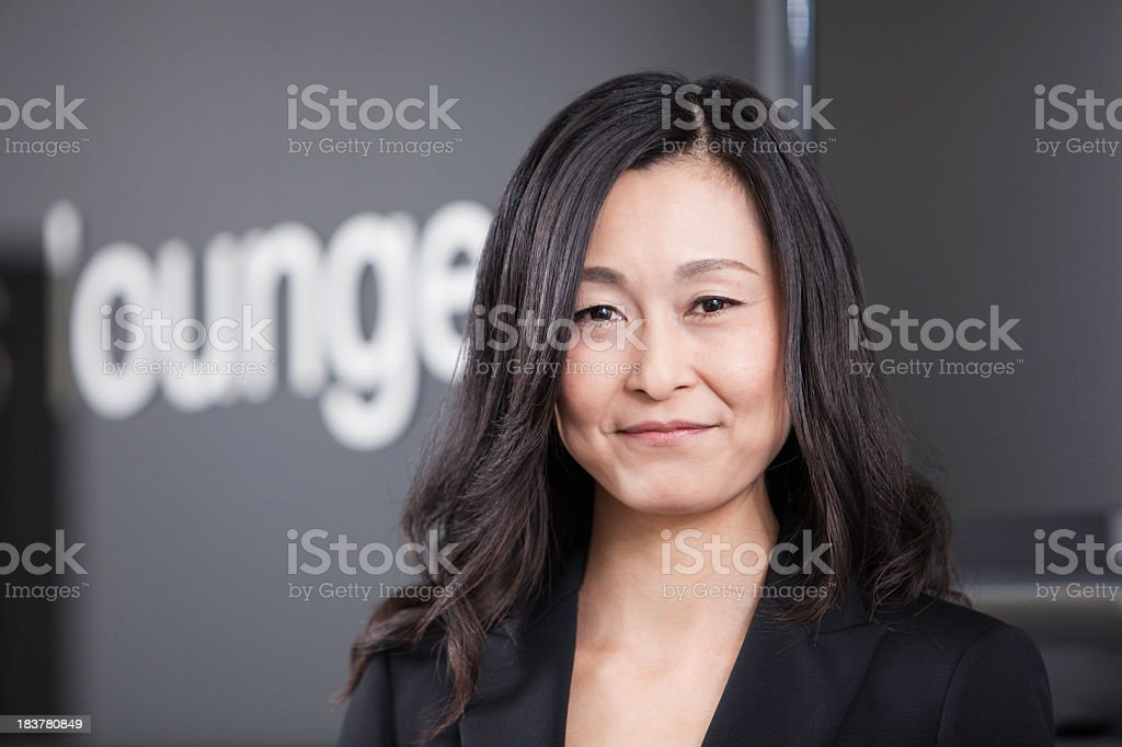 Adult Asian Business Woman royalty-free stock photo