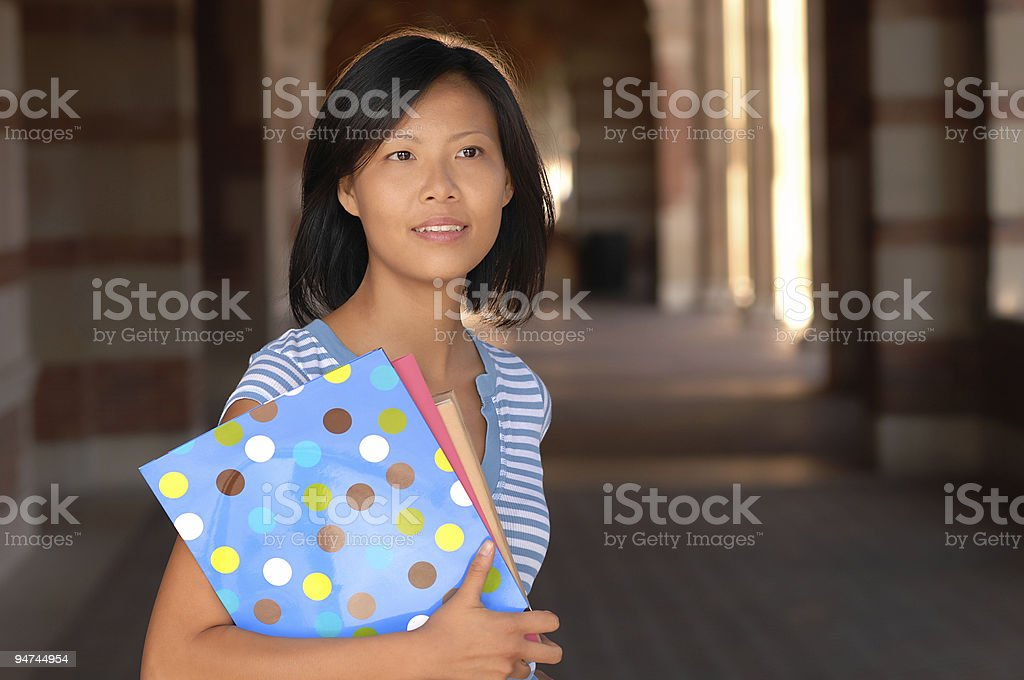 Adult Asian Female University Student On Campus royalty-free stock photo