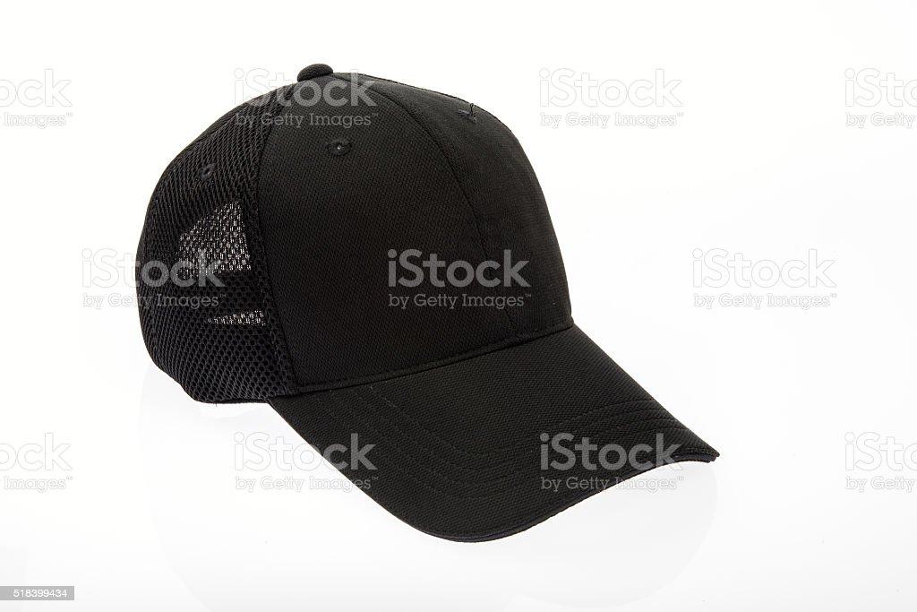 Adult black golf cap stock photo