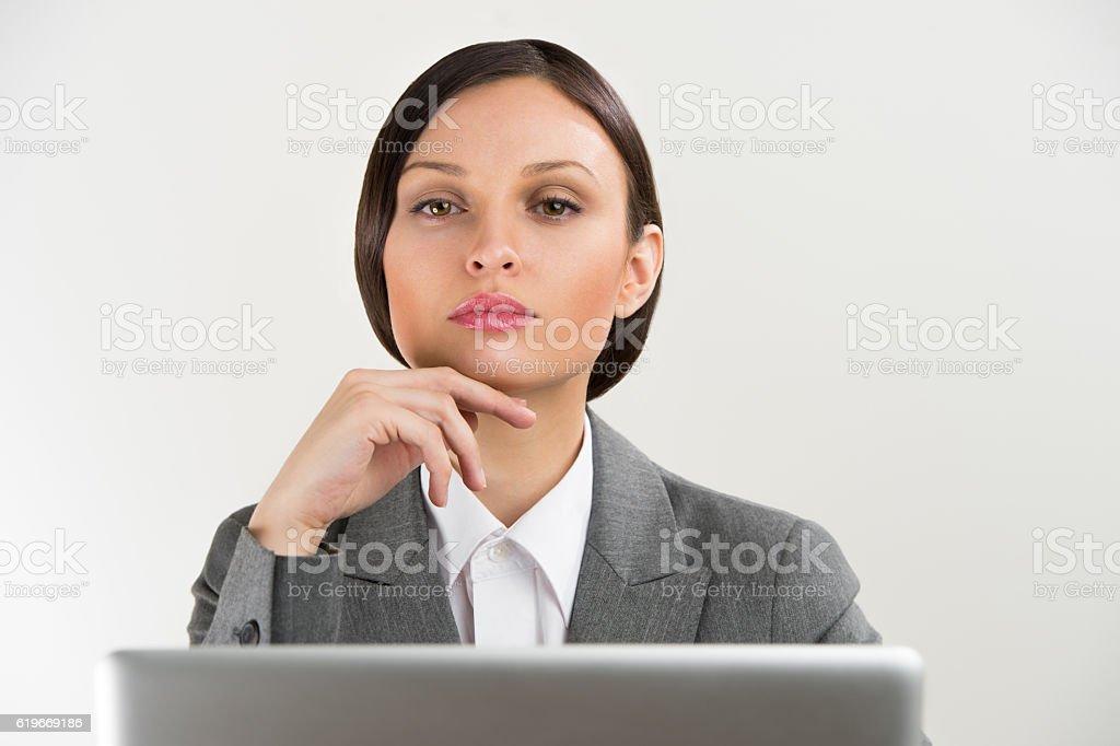 Adult business woman portrait stock photo