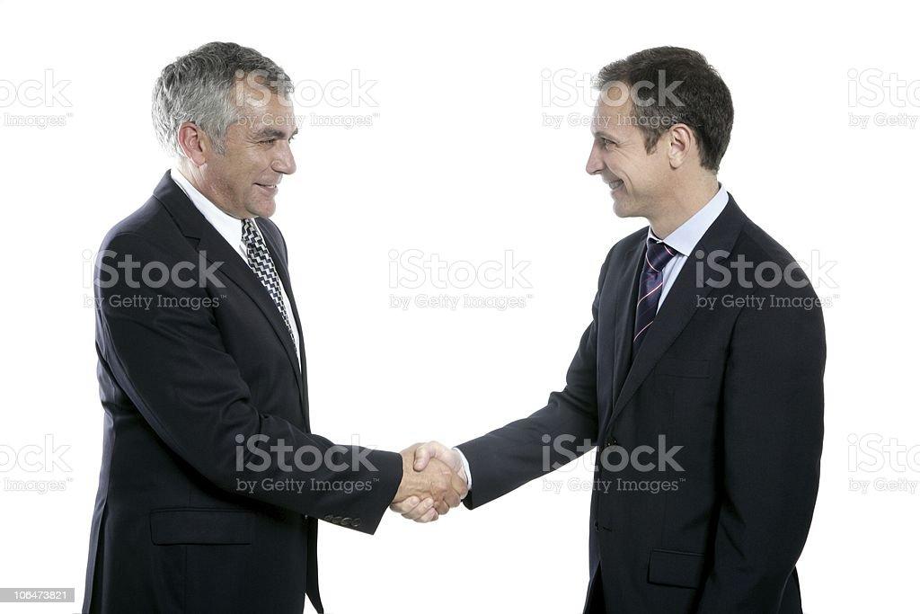 adult businessman handshake expertise portrait royalty-free stock photo