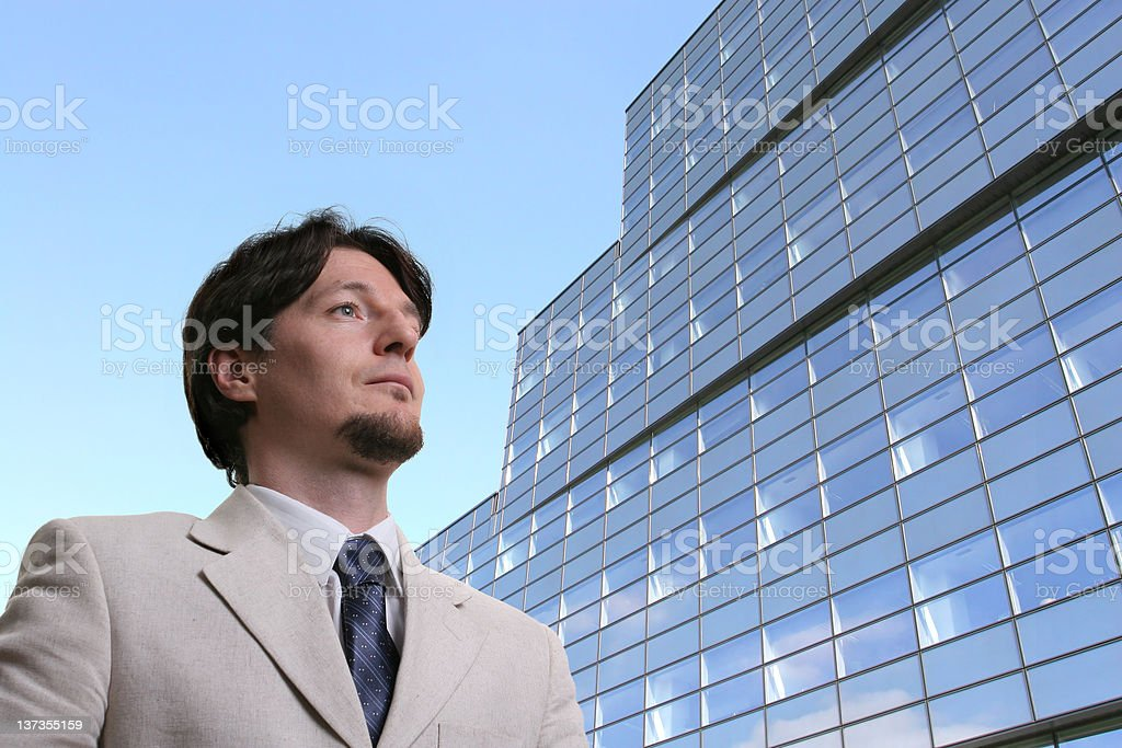Adult businessman royalty-free stock photo