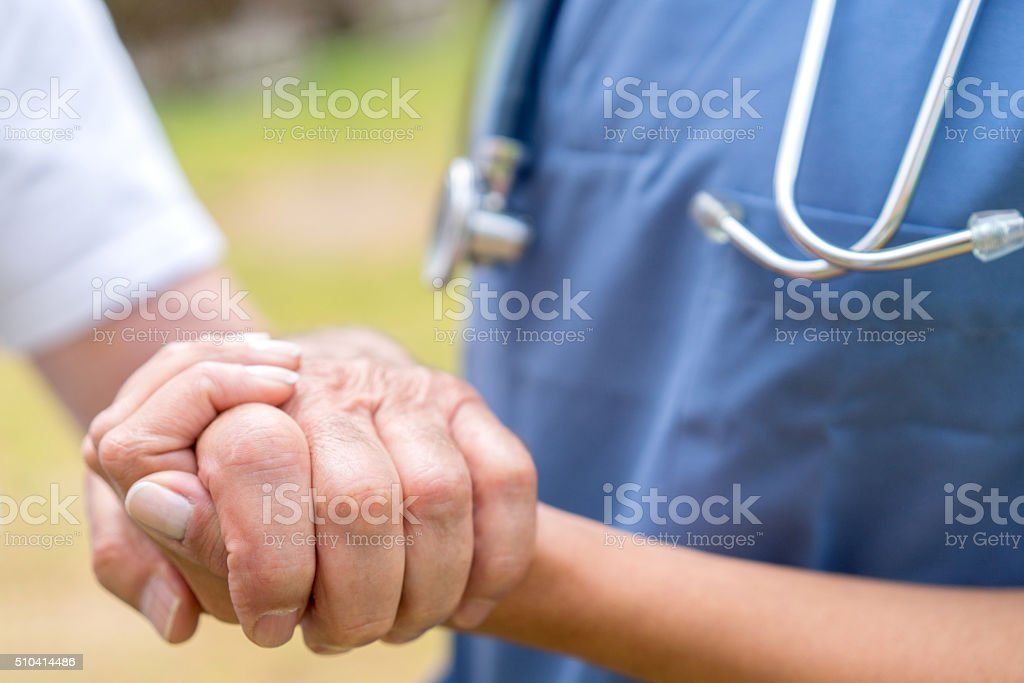Adult care - healthcare and medicine stock photo