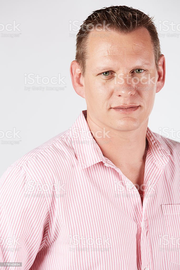 Adult caucasian man royalty-free stock photo