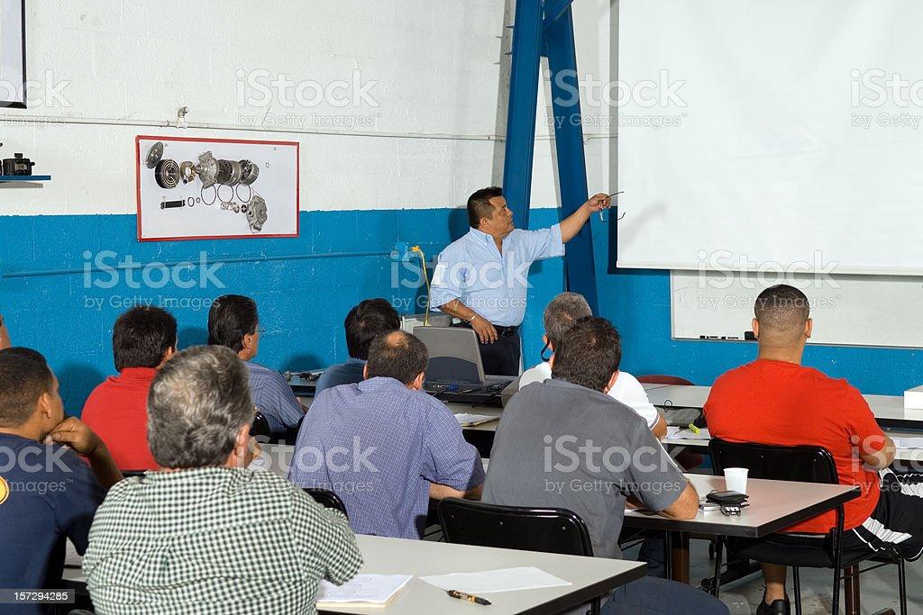 Adult Class Automobile technicians stock photo