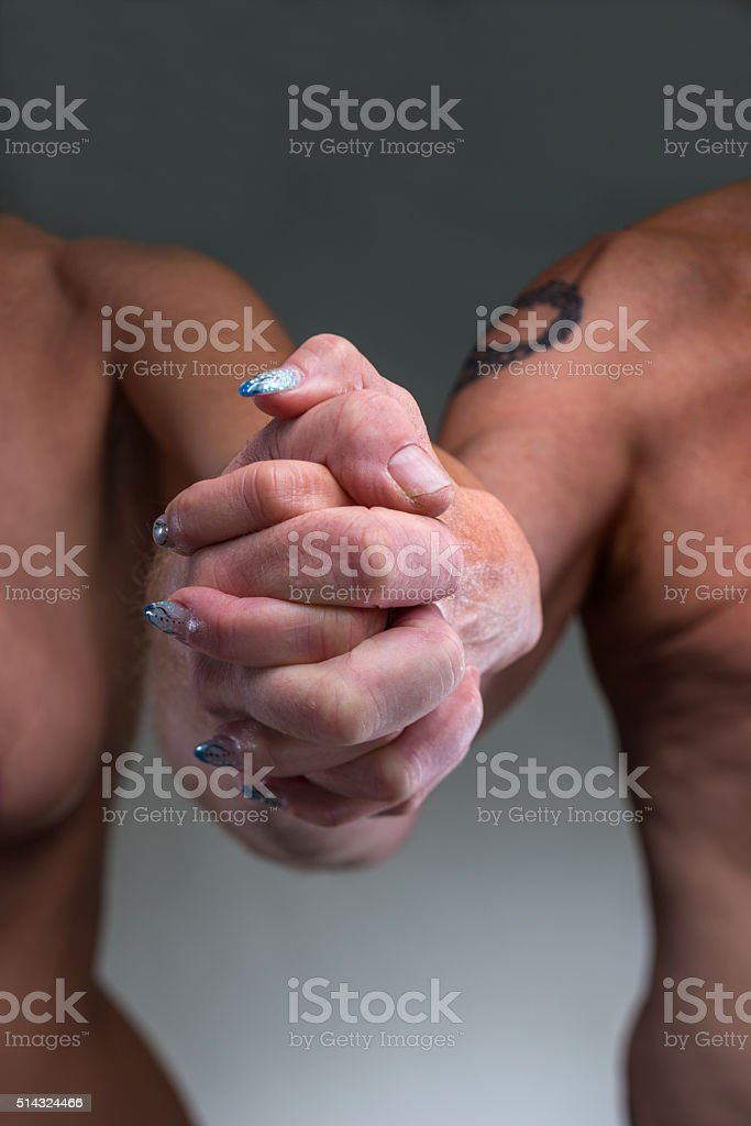 adult couple holding hands stock photo