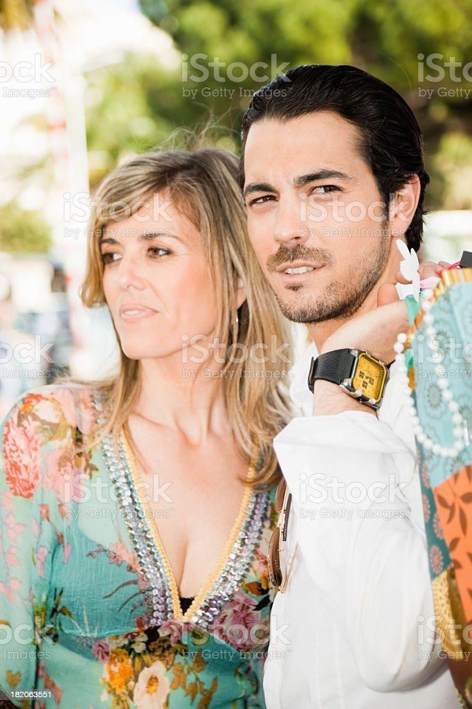 Adult Couple Shopping Day royalty-free stock photo